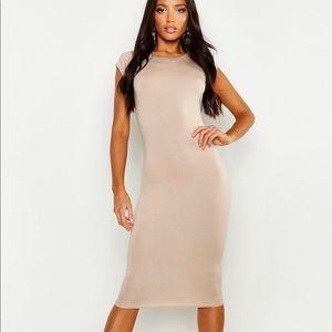 Boohoo Nude Bodycon Dress 🔥 🔥